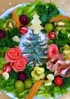 ☆クリスマス*フルーツ入りサラダリース☆