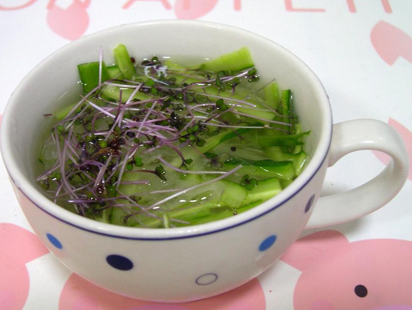 簡単♪きゅうりの冷たいスープ★和風★