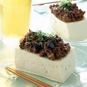 ナスと肉味噌豆腐