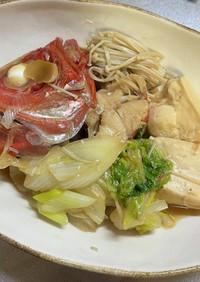 金目鯛の煮付け 白菜や豆腐も美味しい!