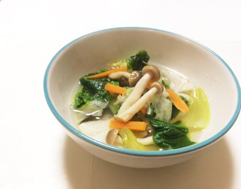 低糖質☆鱈と青梗菜のお吸い物