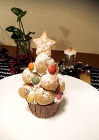 雪降るプチシュー☆クリスマスケーキ