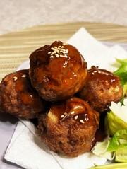 甘酢あんかけ肉団子 母のレシピの写真