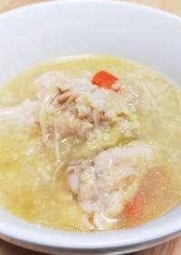 女性ホルモン強化1参鶏湯風手羽元スープ