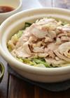 鶏白菜の無限ごま油鍋