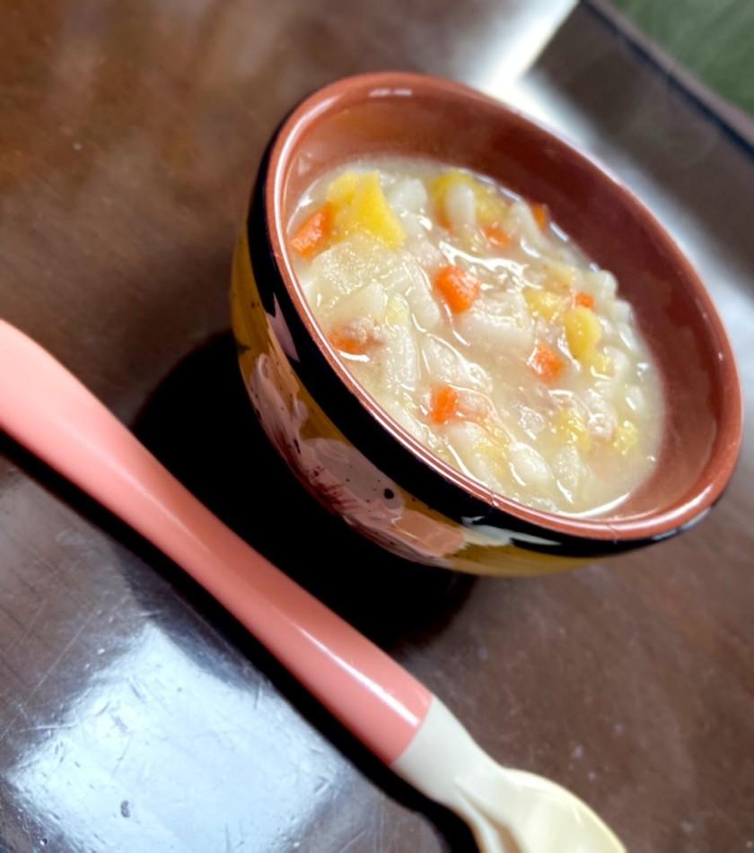 【離乳食中期〜】野菜たっぷりうどん
