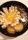 ダシから作る菊花豆腐のお吸い物