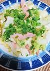 斬新!キャベツと魚肉ソーセージ炒め
