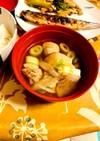 具たっぷり簡単鶏肉と大根と豆腐のごぼう汁