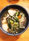 あっさり美味い、具沢山小松菜水餃子スープ