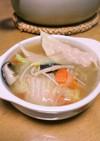 手作り餃子で野菜たっぷり水餃子鍋❤︎⃜