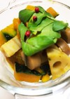 かぼちゃとレンコンのカレー風味温サラダ