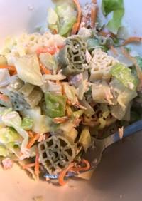 キャベツとxmasマカロニのサラダ
