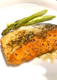 塩鮭で手抜き、簡単魚料理☆鮭のムニエル!