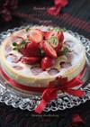 Xmasドレッシー*苺のチーズケーキ