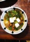 なめこと豆腐の和風スープ