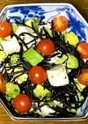 アボカドと豆腐、ひじきのサラダ