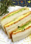*うす焼き卵とレタスのサンドイッチ*