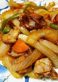 豚バラ肉と野菜のケチャップ炒め