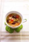 三種豆のクミンジンジャースープ