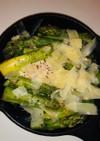 アスパラとグリーンピースの温菜