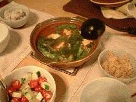 レタス豆腐チゲ