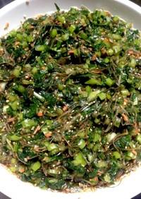 青菜漬と昆布のご飯の友