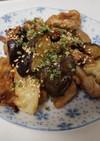 豚こま肉と茄子とキャベツの生姜焼き