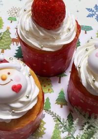 クリスマス☆ホワイトショコラカップケーキ