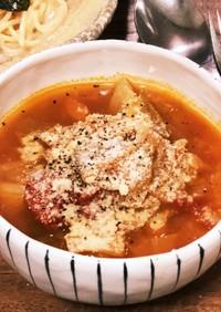 保温鍋で時短!野菜たっぷりトマトスープ!