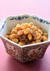 豆から手作り♪えび豆(常備菜・煮物)