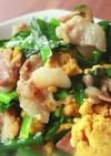 豚バラ肉のスタミナニラ玉炒め