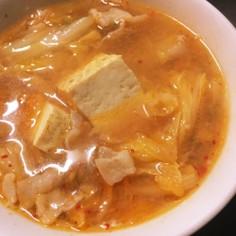 あったまる〜うちのキムチ味噌スープ