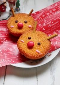 クリスマスに♪簡単☆トナカイのケーキ