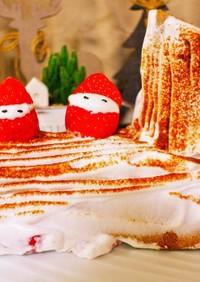 男子飯 クリマスケーキ ブッシュドノエル