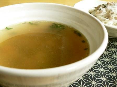 サバ水煮缶の汁で…スープ