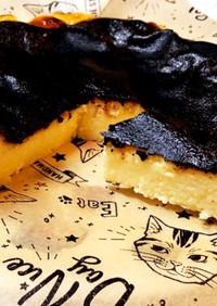 バスクチーズケーキ!(ピザ用チーズ使用)