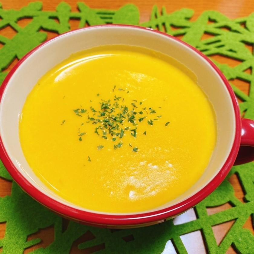 ほっこり温まる♡簡単かぼちゃの濃厚スープ