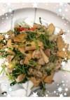 高野豆腐!!豚と豆苗と炒めてしょうが風味