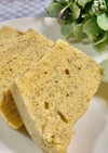 電子レンジで大豆粉バナナケーキ