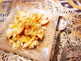 簡単 白菜とりんごとクルミのサラダ