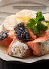 炊飯器で本格!甘塩鮭と長芋の煮物