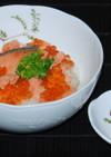 鮭の西京漬けはらこ飯風どんぶり♪