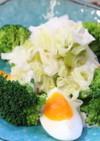 """ブロッコリーと卵の""""ねぎもり""""サラダ"""
