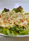 水菜・アボガド・ツナのサラダ