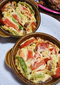 簡単☆トマトとサーモンのオーブン焼き♡