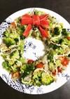 菊芋とブロッコリーのリースサラダ☆