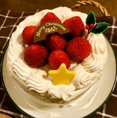 クリスマス☆ミ 苺の生クリームケーキ
