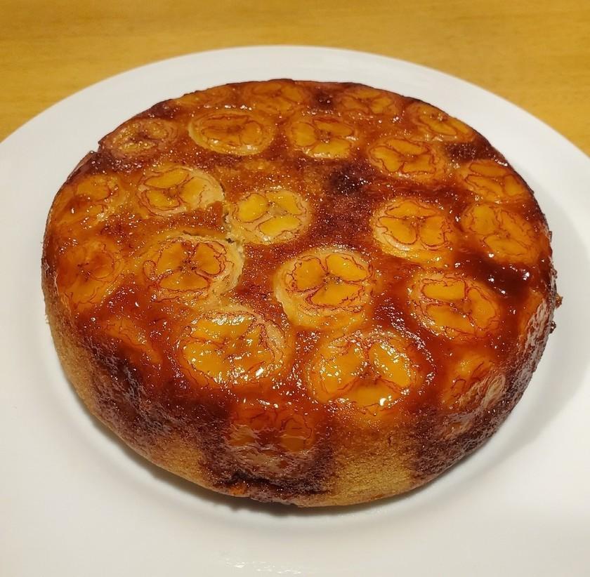 炊飯器とHMで簡単♪カラメルバナナケーキ