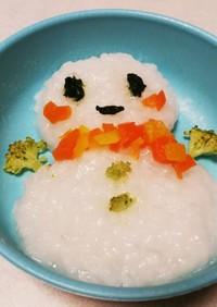 クリスマス❤️雪だるま⛄離乳食